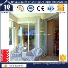 Doble acristalamiento tintado Bi plegable puerta corredera