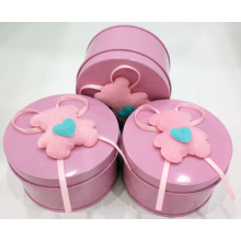 Pink Round Candy Tin Box