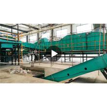 máquina de separação de resíduos sólidos municipais automática resíduos domésticos linha de separação de resíduos domésticos com CE ISO