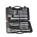20pcs silbriges BBQ-Set in einer Kunststoffbox