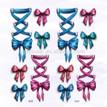 Bow pattern Bowknot Waterproof Customized 3D tattoo sticker for Dressing up