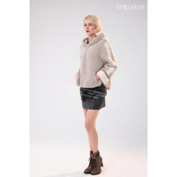 Kurze Winter Damen Merino Shearling Jacke