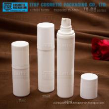 ZB-QH série 15ml 30ml 50ml branco PP plástica cor bomba da loção personalizável garrafas de bomba redonda airlesses