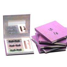 F175H Hitomi Mink False Eyelashes Private Label soft natural Fluffy 25mm Magnetic Eyelashes with Eyeliner and tweezers