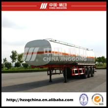 Le fabricant chinois offre la remorque de réservoir de l'acier au carbone Q345 pour l'huile diesel légère Delivery40800L (HZZ9400GYY)
