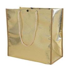 High Quality bottom reinforced double shopping non woven bag with rope handle
