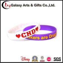 Пользовательские моды рекламные силиконовый браслет браслет для поощрения подарков