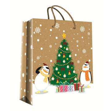 CHRISTMAS SERIES KRAFT GIFTBAG43-0