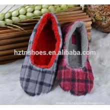 Мягкая клетчатая женская балерина спальная внутренняя обувь для туфель