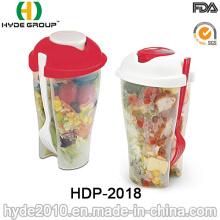 Copo Shaker de Salada com Recipiente de Molho Separado (HDP-2018)