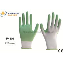 Polyester Shell PVC Coated Safety Work Glove (P4101)