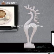 Hotel restroom decoration home decors resin art crafts deer resin statue ornaments