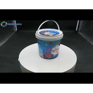 Adulteração estocada balde de tinta plástica baldes de plástico