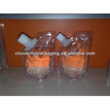 3 camadas transparente venda quente bico líquido Especial boa aparência projeto bico Material laminado Doypack bolsa de embalagem bico