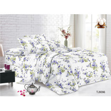 Простыни из полиэстера и вуали с цветочным принтом Добби, комплект постельного белья