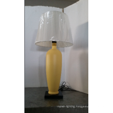 Simple T/C Fabric Hotel Wooden Table Lamp
