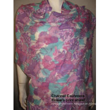 Cashmere Purple Flower Print