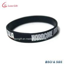 Buena venta promoción silicona pulsera pulsera personalizada