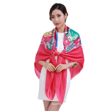 Hot Sell Printed Large Square Scarf with Multi Colors