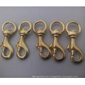Nickle Plated Brass Snap Hook with Swivel Hook