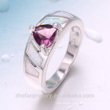 Luxury dubai style charming design silver jewelry ring gift for girlfriend