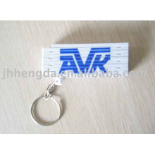 Key chain with folding ruler