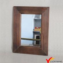 Sandblasting madeira moldada em estilo francês antigo espelho decorativo de parede