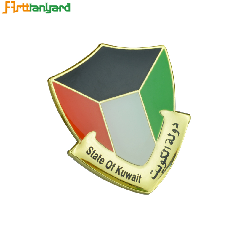 Customized Plated Metal Badge For Gifts