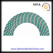 Sierras de alambre de diamante de cantera de mármol