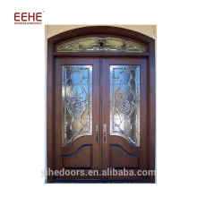 Pele da porta do folheado da madeira de Foshan com a porta da madeira do mdf / entrada arqueada porta de madeira
