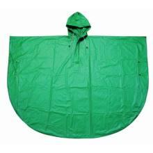 Yj-6006 Poncho de plongée en PVC PVC vert populaire pour la randonnée
