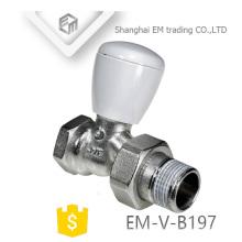 Robinet thermostatique de radiateur de commande de laiton de la température chromée EM-V-B197