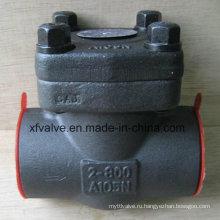 800lb Кованая сталь A105 Резьбовой обратный клапан с резьбой NPT