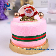 Promotional gift 100% cotton cake towel