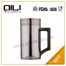 high end stainless steel vacuum flask thermos mug with handle in nice packing