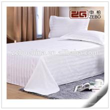 Luxury 400 Thread Count Stripe Fabric Soft and Elegant Hilton Hotel Bedding