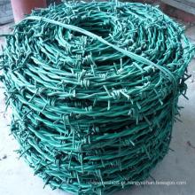 Arame farpado de dupla linha revestido de PVC