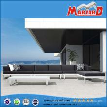 Aluminio Selectional Lounge Sofa Set Patio Muebles de exterior de metal