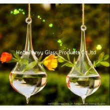 2016 Venda quente em forma de lágrima Pendurado Vaso de vidro para decoração Home