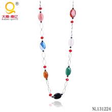 Модное агат ожерелье дизайн цепи ожерелье
