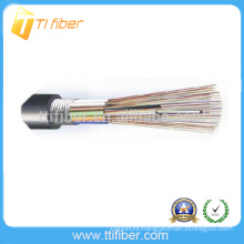 Good Quality Cheap price Outdoor G652D FRP Strength Outdoor Loose Tube Fiber Optic GYTA Armored Fiber Optic Cable Meter Price