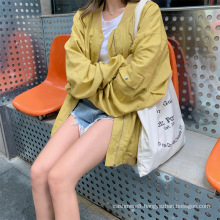 Fall Long sleeved two-color coat for women