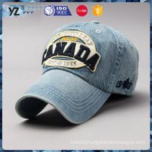 custom multicolor applique embroidery logo wash cowboy caps