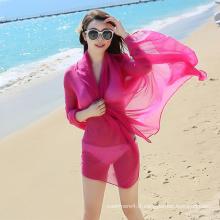 2017 fashion summer style pas cher écharpe de plage en mousseline de soie