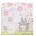 100% coton jacquard fleurs de cerisier Totoro visage serviette souple