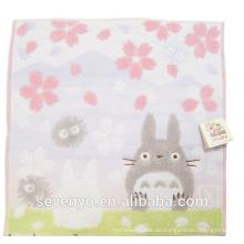 100% Cotton Jacquard Cherry blossoms Totoro Face Towel Soft