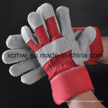 Industry Short Cowhide Leather Working Gloves, Safety Working Gloves, 10.5′′patched Palm Leather Glove, Cow Split Leather Full Palm Working Glove, Driver Gloves