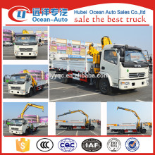 The new design china manufacture DFAC 4*2 light truck crane with 2 tons
