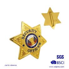 Custom Star Shaped Sheriff Emblem Badge (xd-09016)