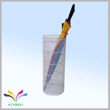 Promocional de metal malla húmedo paraguas titular de lluvia paraguas